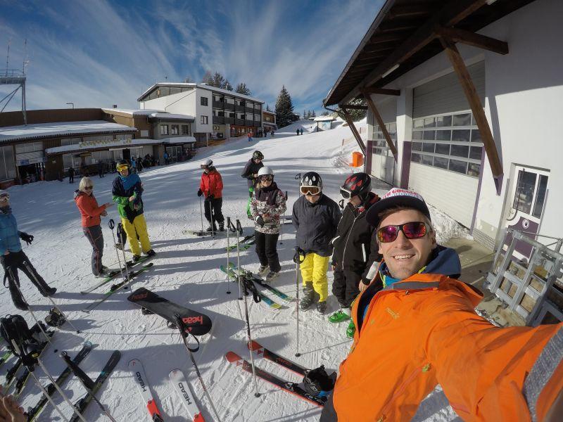 1. Tag auf Skiern