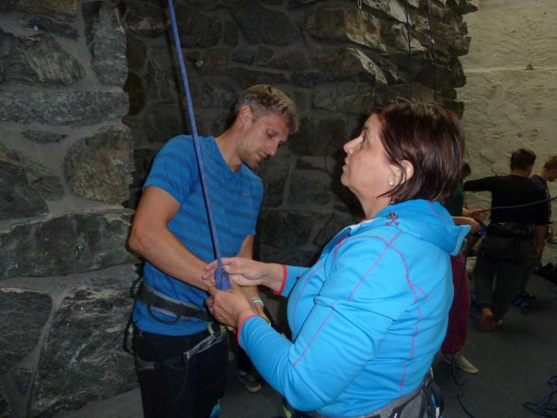 Basti und Kati kurz vor dem Aufstieg.